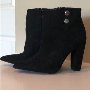 BCBG black booties size 6.5